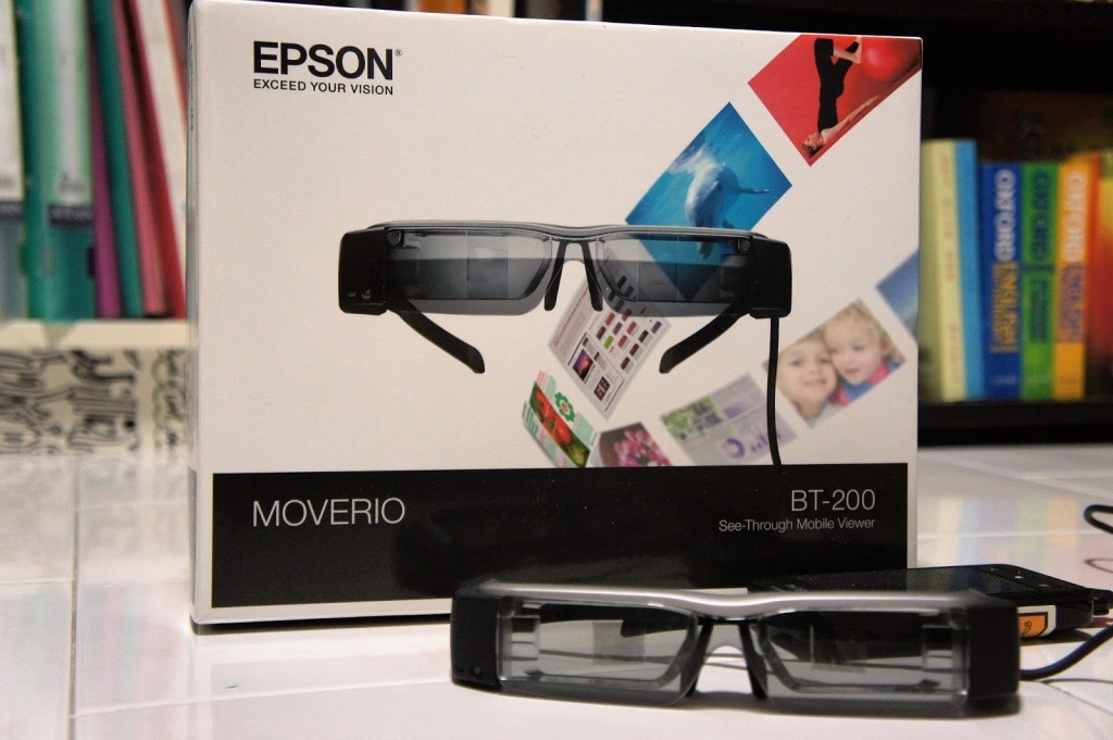 Очки Epson Moverio BT-200 коробка