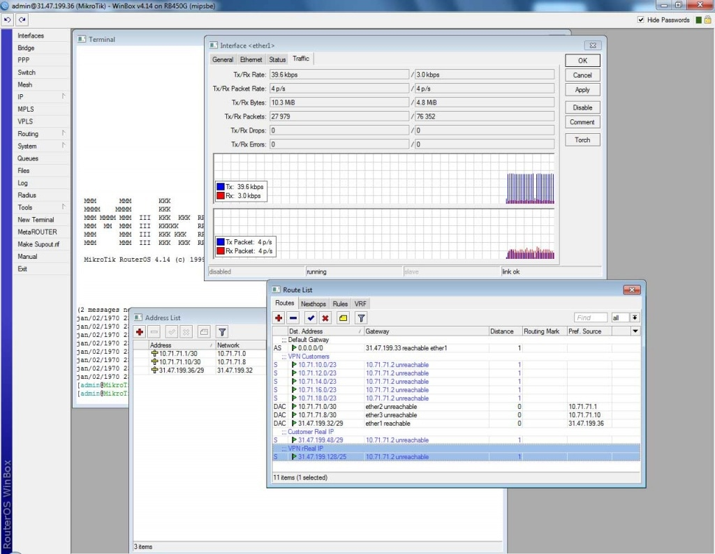 MikroTik операционная система RouterOS